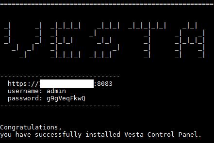 Instalação VestaCP 2